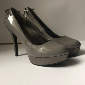 Xoxo Silver Gray High Heel Platform Shoes